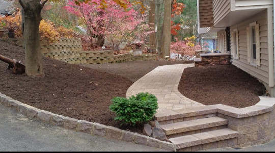 Walkway, Retaining wall, Front Porch Overlay