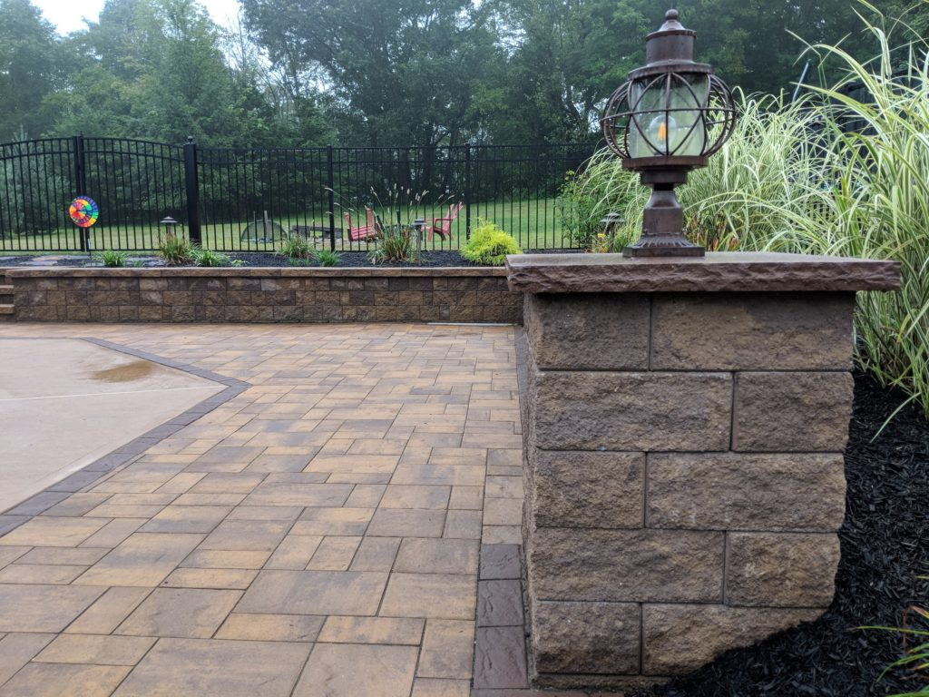 Paver pool patio, Landscape lighting , hardscapes