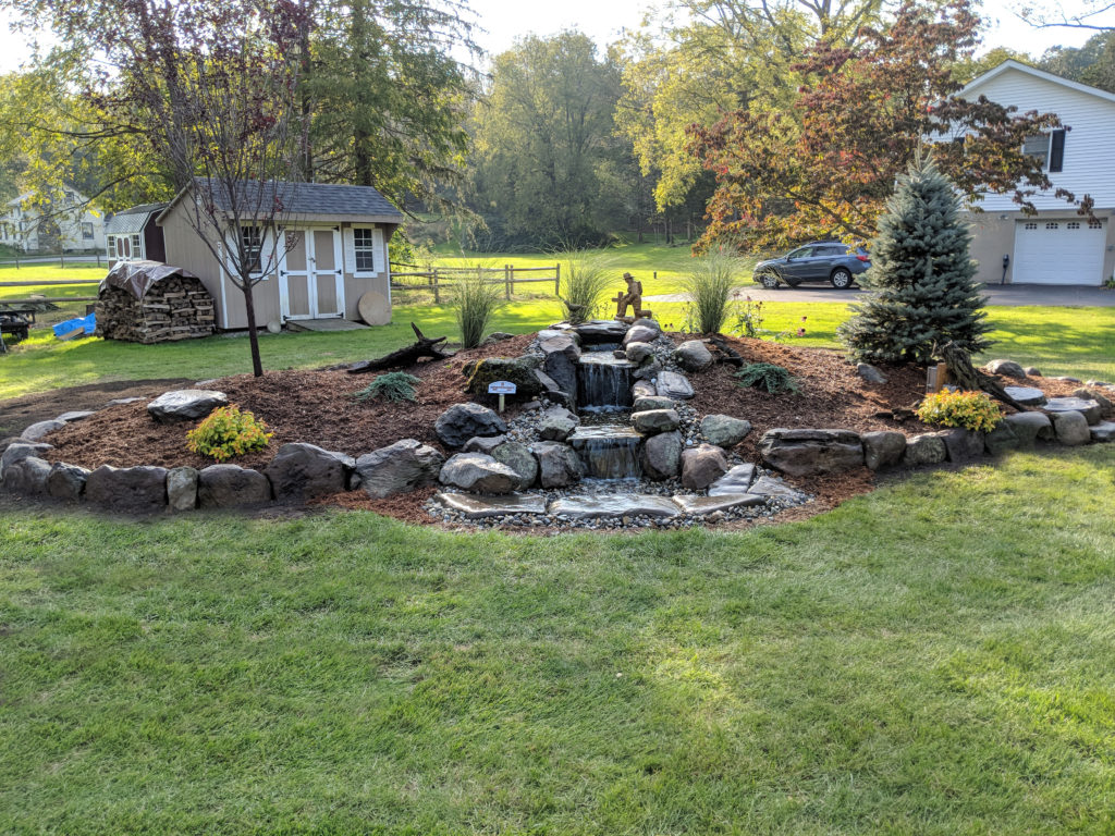 Backyard Waterfall, Sussex County NJ Landscaping